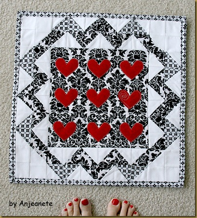 heart wall hanging by Anjeanette 1