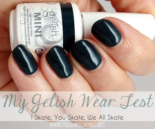 My Gelish Wear Test wearing Gelish I Skate, You Skate, We All Skate