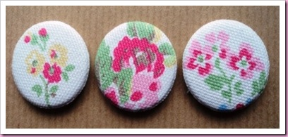 Badges made using kath Kidston material 1