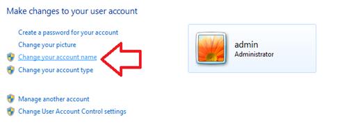 เปลี่ยนชื่อผู้ใช้ให้ windows 7