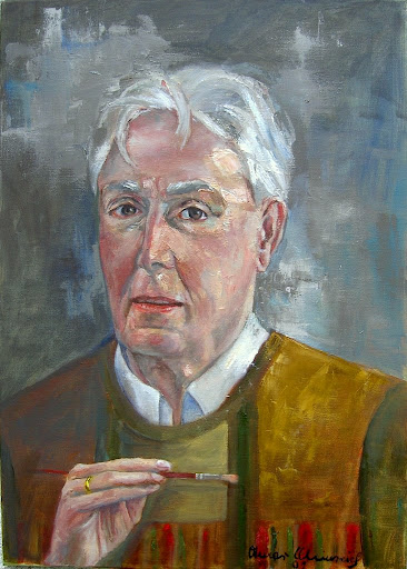 Selbstportrait, Öl auf Leinwand, 50x70 cm, Copyright 2009 by O.Weinreich