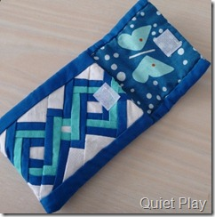 Quiet Play Ipod Pouch open