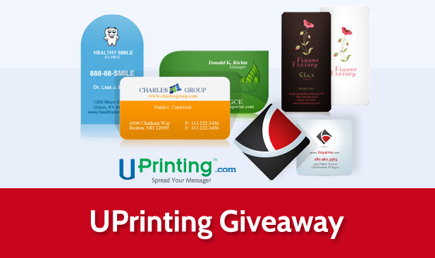 Uprinting giveaway 3 sets of die cut business cards amusing planet uprinting colourmoves