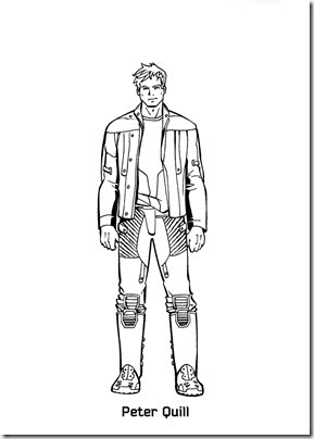 peter quill para colorear