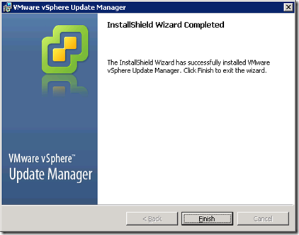 16_Update Manager Installation Completed