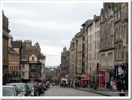 Looking down the Royal Mile from the Castle to Holyrood House.