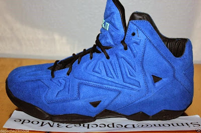 nike lebron 11 nsw sportswear ext blue suede 3 09 Nike LeBron XI EXT Blue Suede Sample   Up Close & Personal