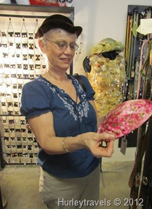 Nancy at Harloh's Vintage Shop in Fountain Square, Indpls.