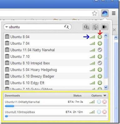 BitTorrent Surf cercare e scaricare torrent