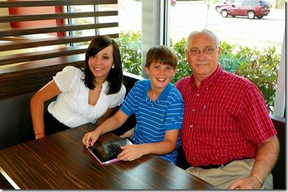 Lydia (14), Blaine (10) & Poppa Doppey (64)