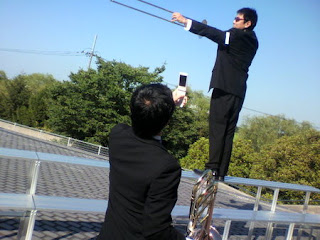 そしてそれを撮影する吉田くん。 を撮影する04・・・まったくtrombone吹きってばさー(ーー;)