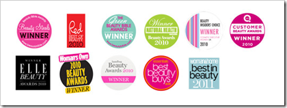 Cleanse & Polish™ Hot Cloth Cleanser Awards