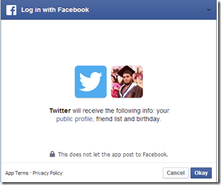 Facebook Twitter Permissions