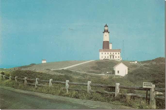 Montauk Lighthouse - Historical Long Island Vintage Postcard