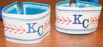 Personalized Baseball bracelet kissed by a frog custom teams gifts kansas city royals spring training surprise arizona 1