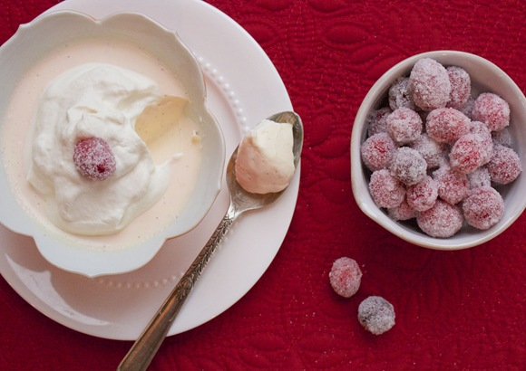 Candied Cranberries & Grapefruit Panna Cotta