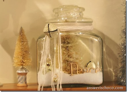 VIntage Repurposed Christmas Jar