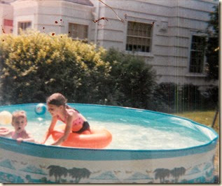 wendy and katrina in kiddie pool