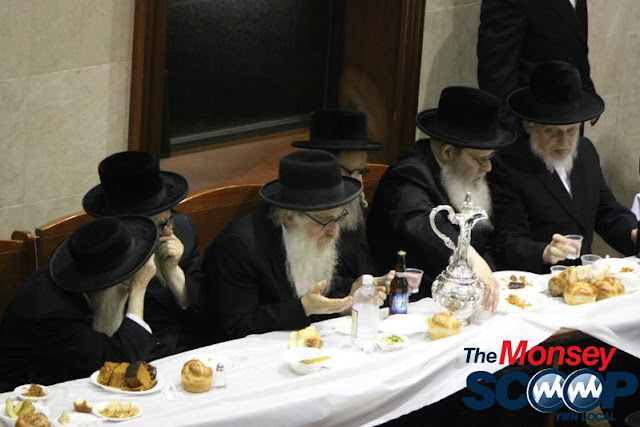 Yartzheit Tish For Stamar Rebbe Held In Satmar Beis Medrash Of Monsey (Photos by Moshe Lichtenstein) - IMG_5559.JPG