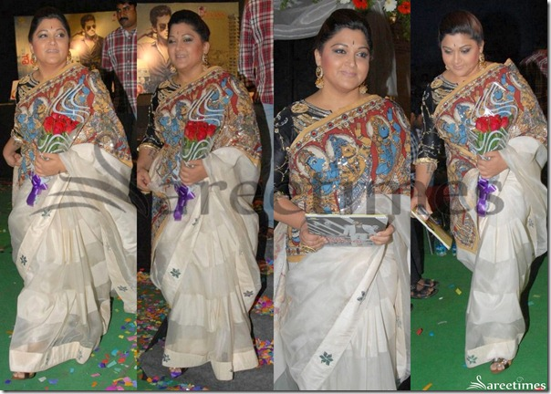 Kushboo_White_Saree
