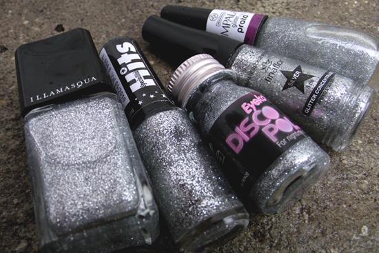 Esmaltes Glitter Prata - Nail Varnish Glitter Silver