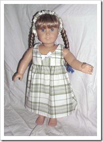 Cute green plaid dress for an American Girl doll.