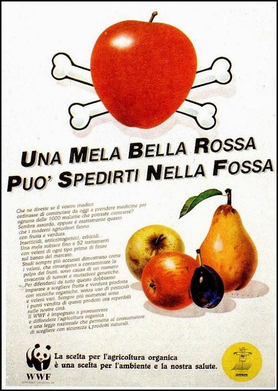Una bella mela rossa può spedirti nella fossa
