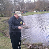 Dad fishing at Conashaughs fishing event.