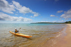 Kayaking on the shores of Pancake Bay