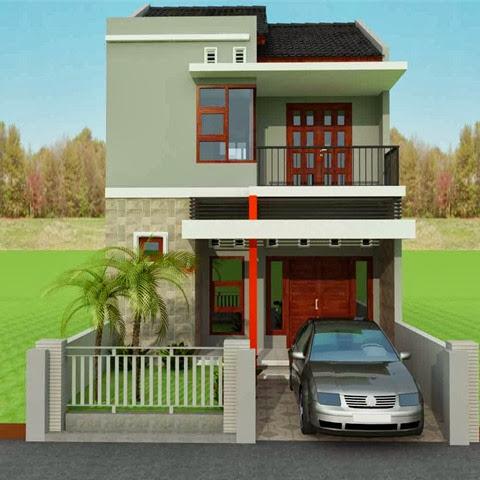 rumah minimalis modern 2 lantai type 36