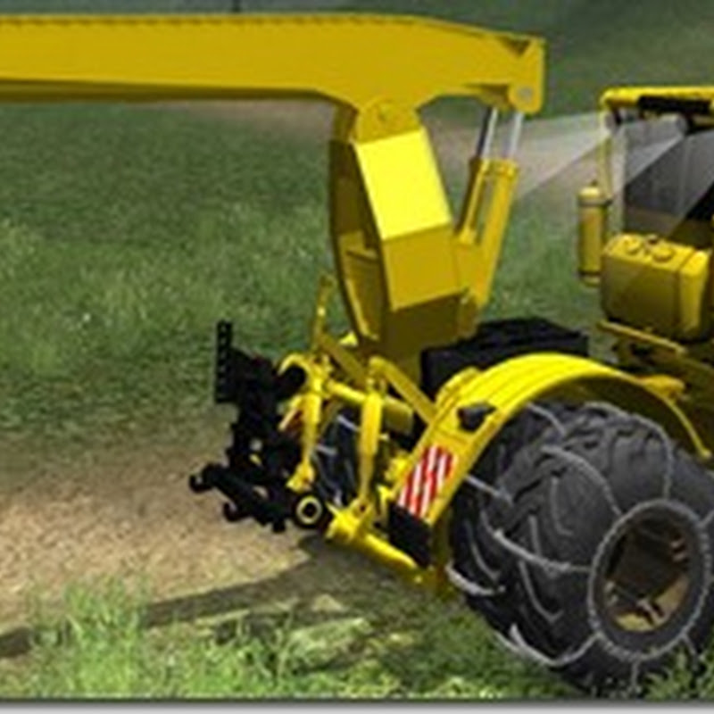 Farming simulator 2011 - kirovets + skidder arm + chain mod