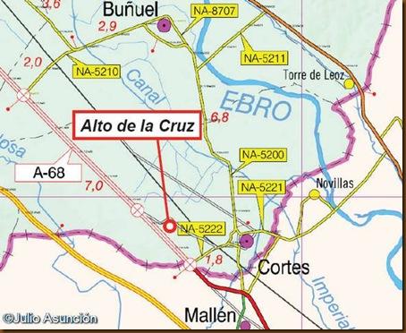Localización Alto de la Cruz de Cortes