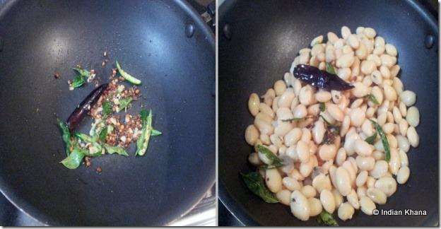 Mochakottai Val beans Sundal Butter Beans Recipe