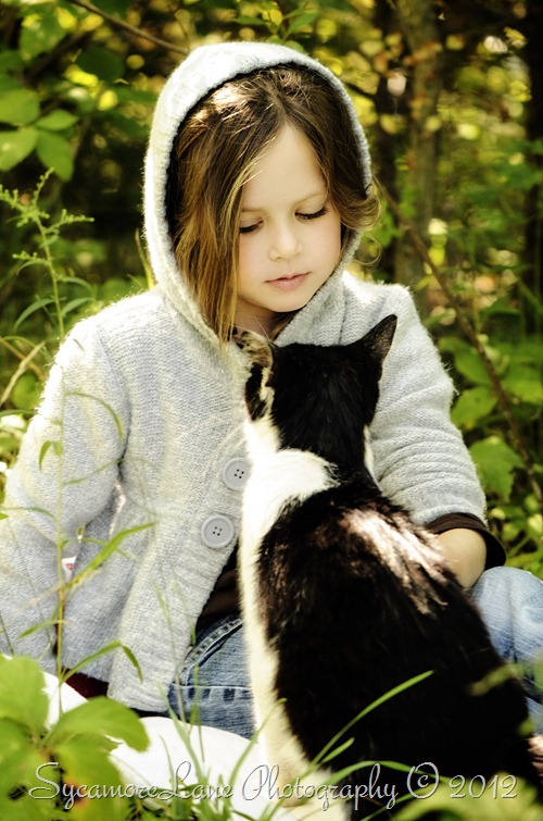 Girl and her kitty