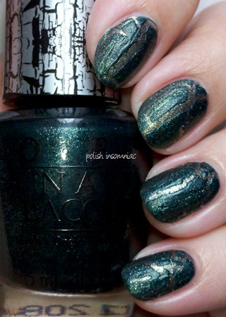 OPI Green Shatter over Number One Nemesis