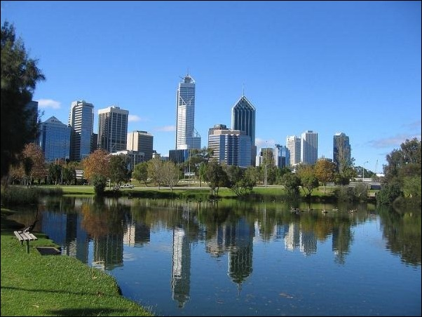 4. Perth, Australia reflection in water