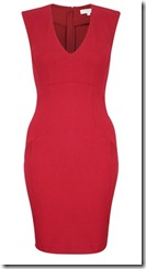 French Connection Red Jersey Dress