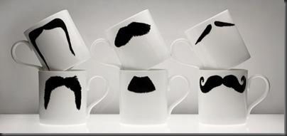 cesti de cafea cu mustata
