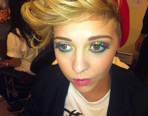 X Factor Charlie rainbow eyes