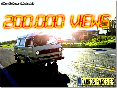 200.000 Views Carros Raros BR