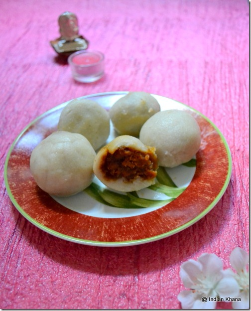Kozhukattai Modak Steamed Rice Dumblings with coconut stuffing recipe