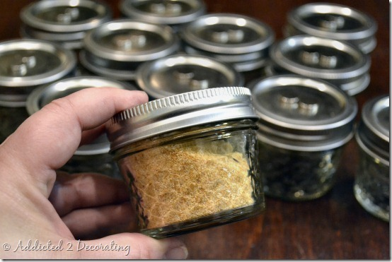 DIY project:  How to make a framed magnetic chalkboard spice rack