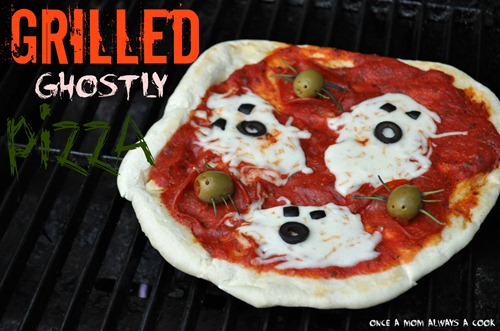 Grilled Ghostly Pizza