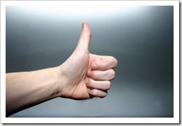 thumbs up feedback