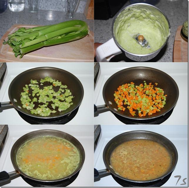 Celery soup process