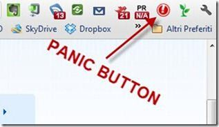 panic button chrome