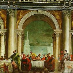 85 - Veronés - Jesús comiendo en casa de Leví