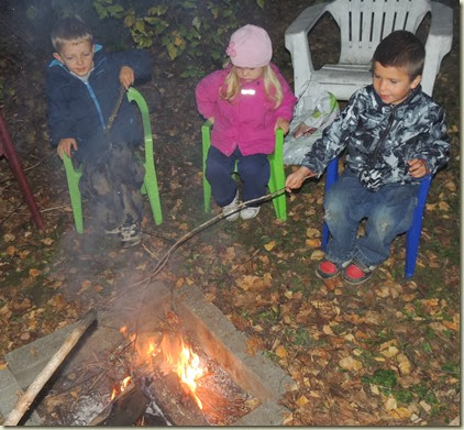 Sienna is still thinking, but Ethan and Evan discovered the fun of a fire