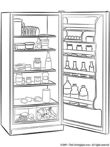 Coloring pages FRIDGE COLORING