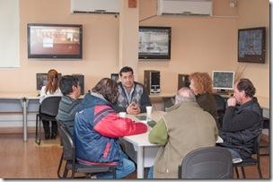Roberto Ferreyra con integrantes de la Sala de Comerio